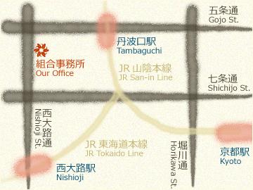 京都表具協同組合は、京都府中小企業会館5階にございます